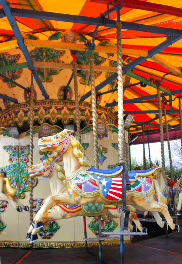 Download Carousel horse stock image. Image of enjoyment, equestrian - 18767499