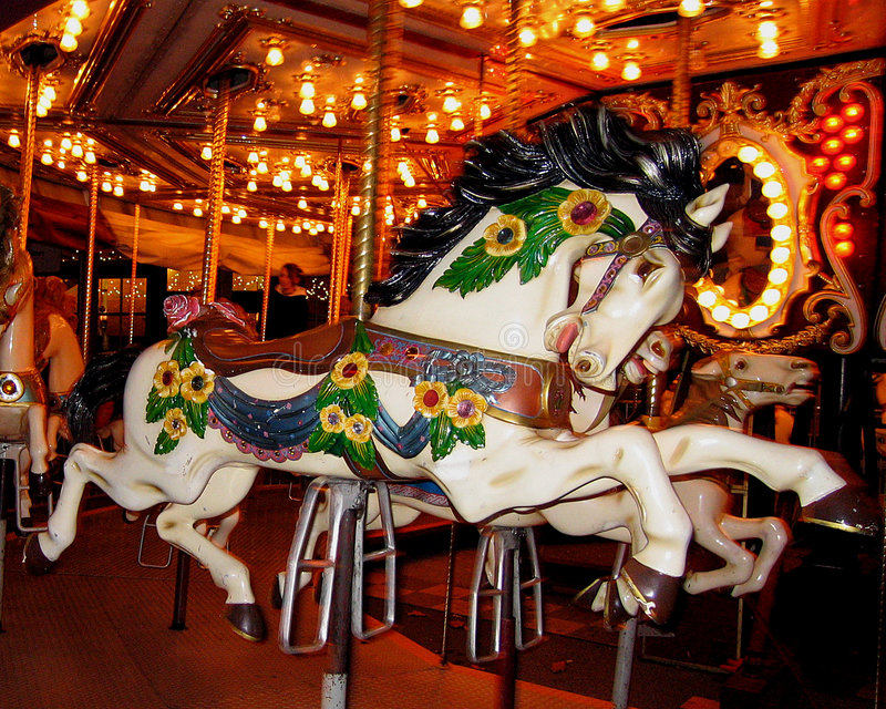 Download Carousel Horse stock image. Image of carnival, center, outdoors - 48173