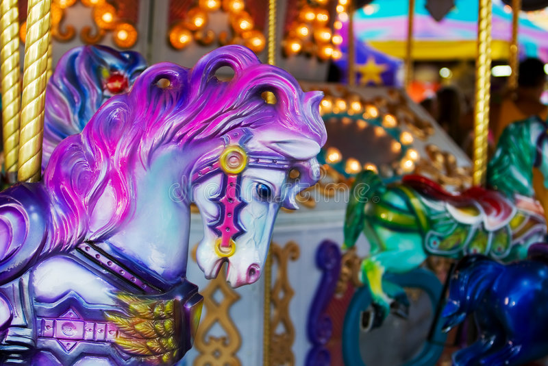 Carousel horse royalty free stock photo