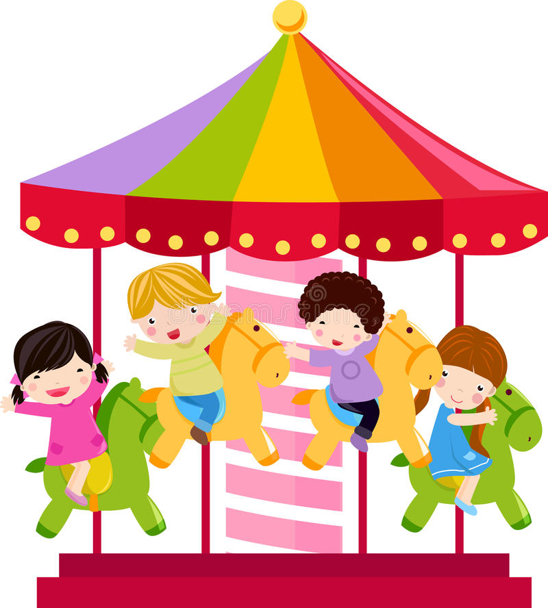 Free Carousel Horse And Children Royalty Free Stock Photo - 12445665