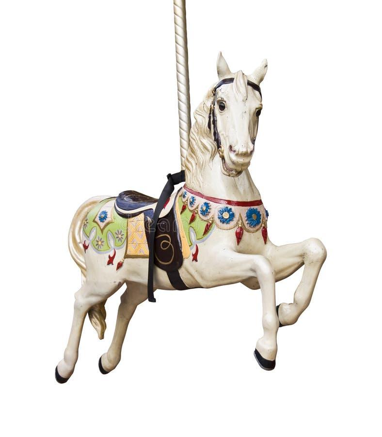 Free Carousel Horse Isolated On White Stock Photos - 53432723