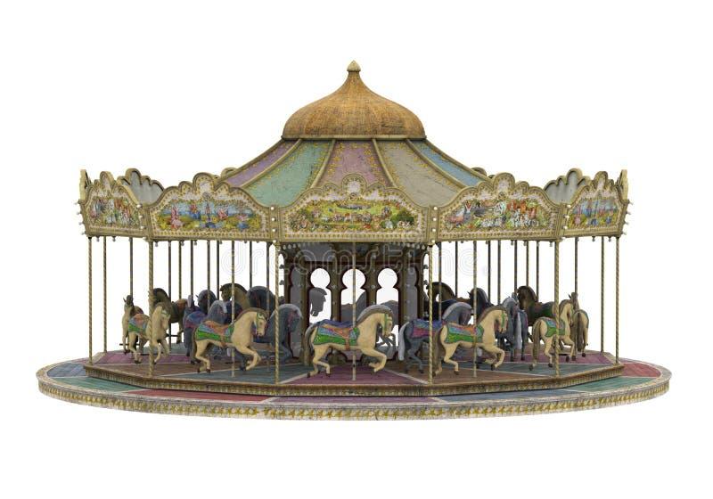 Carousel Horse Isolated stock photo