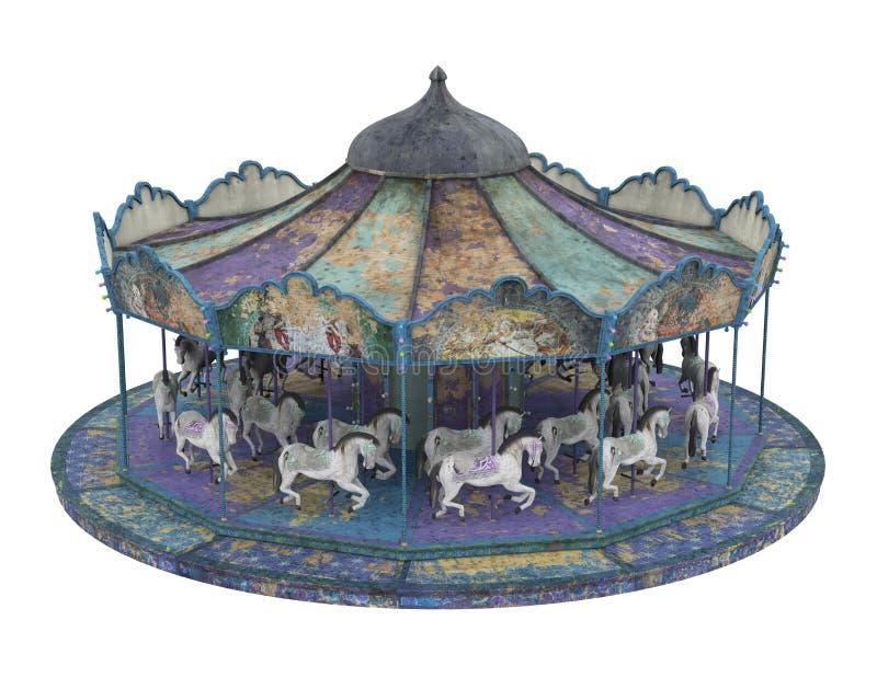Carousel Horse Isolated stock image
