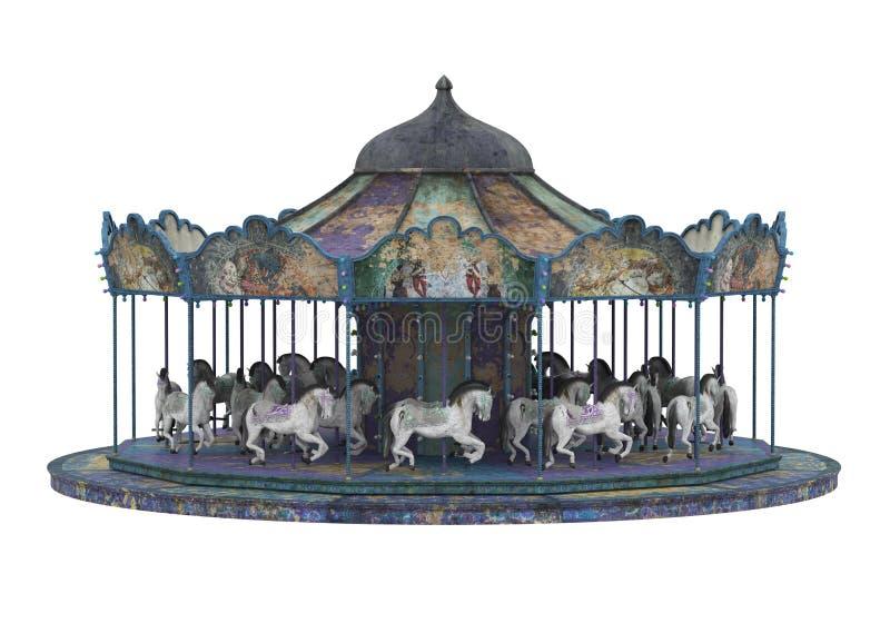 Carousel Horse Isolated royalty free stock photo