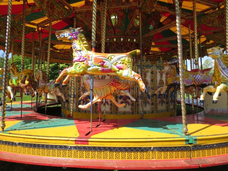 Carousel horse merry go round royalty free stock photo