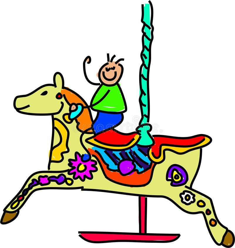 Carousel kid royalty free illustration