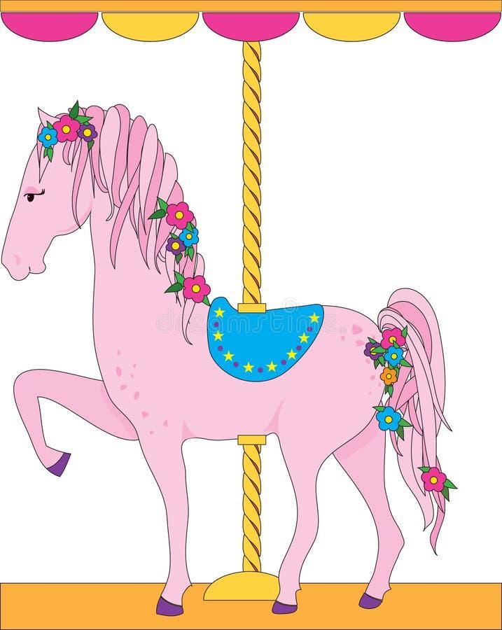 carousel koń ilustracja wektor