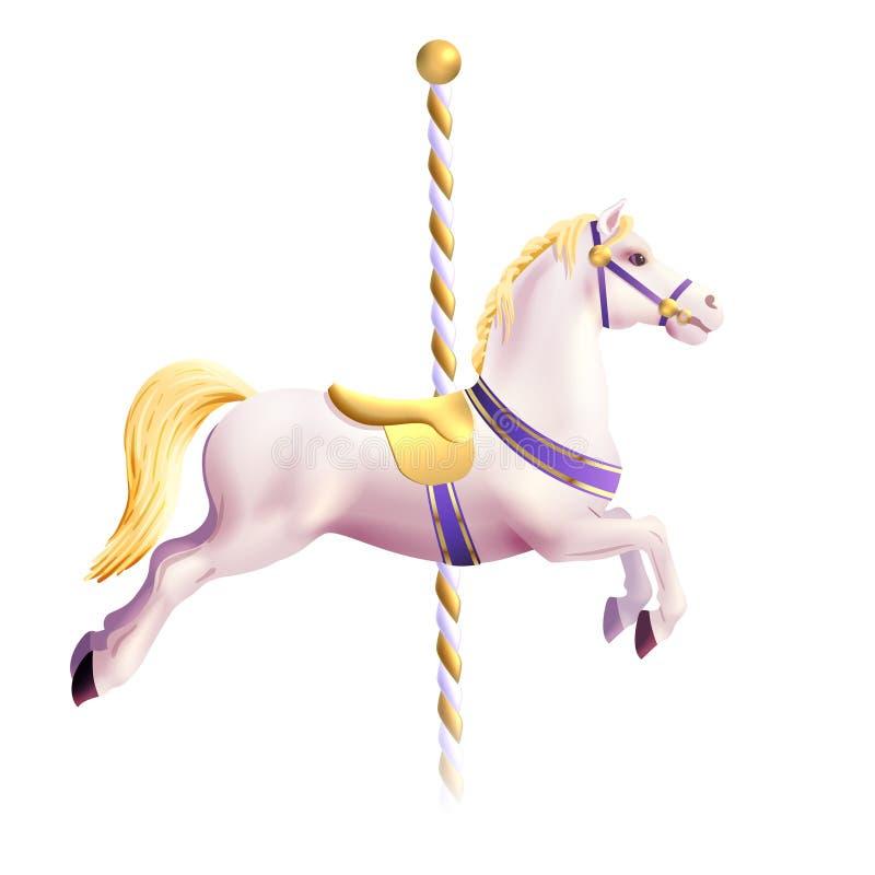 Carousel koń Realistyczny royalty ilustracja