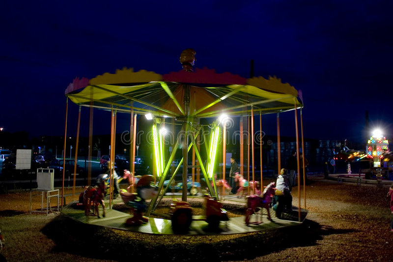 Download Carousel in motion stock image. Image of riding, roundabout - 1415627