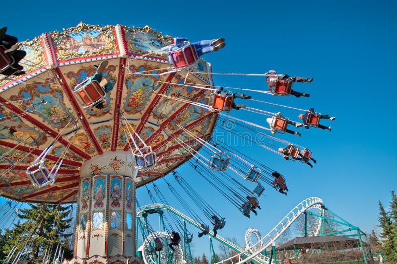 Carousel na niebieskim niebie fotografia royalty free