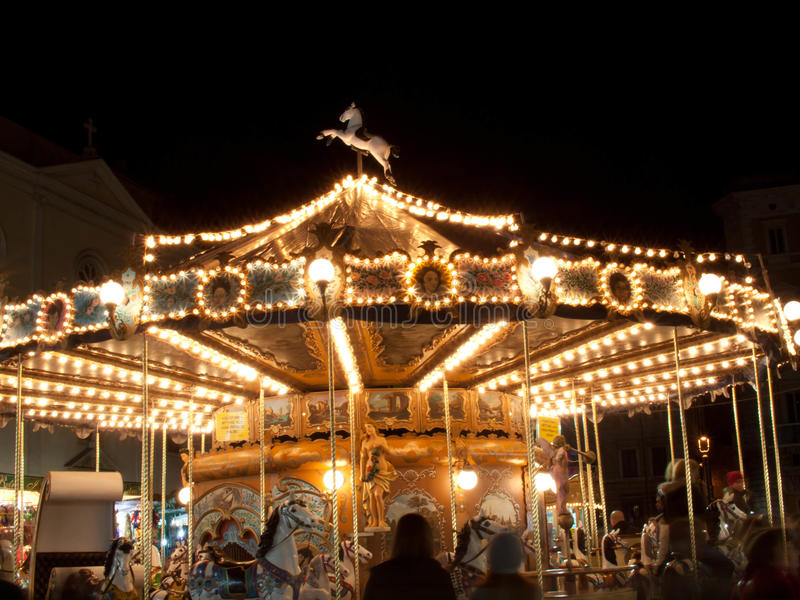 Carousel at Navona Square stock photography