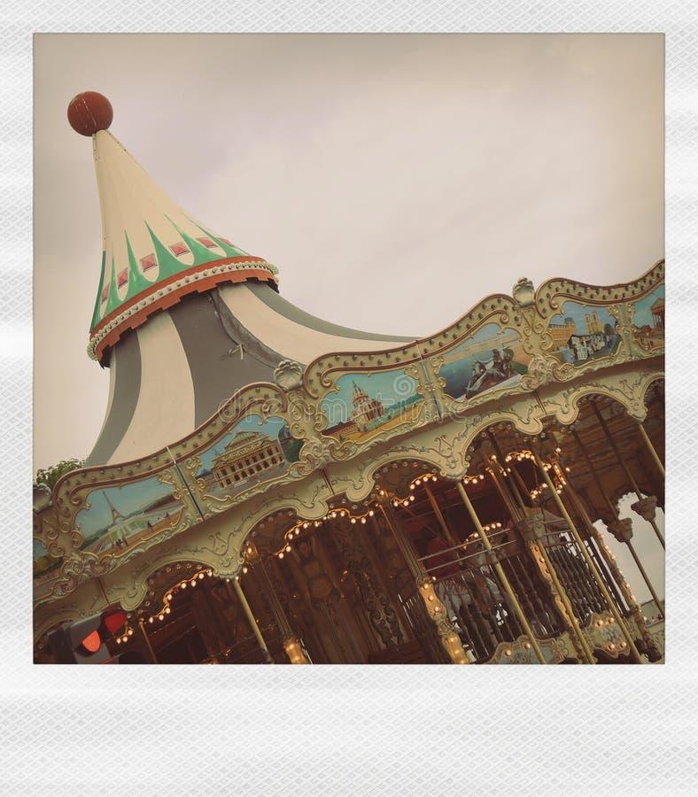 carousel polaroid royalty ilustracja
