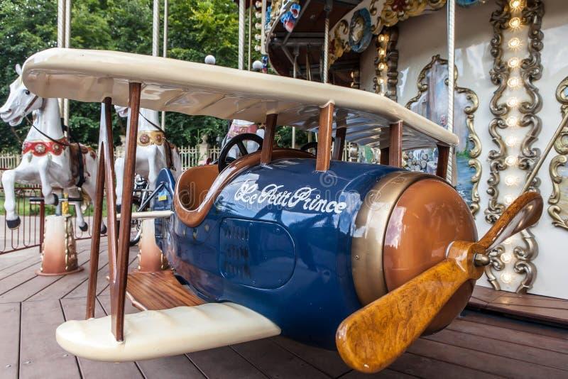 Carousel postaci zbliżenia samolot obraz royalty free