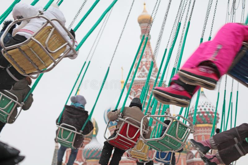 Carousel on Red Square, Moscow royalty free stock photo