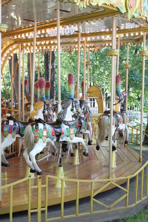Download Carousel Ride stock illustration. Image of horses, details - 23571322