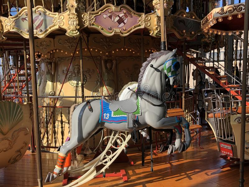 Carousel Ride. Horse on a carouse located in a mall in Freehold New Jersey royalty free stock images