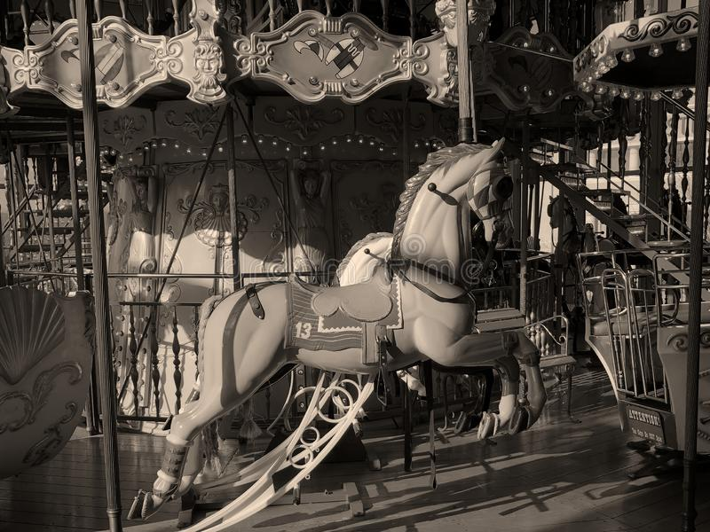Carousel Ride. Horse on a carouse located in a mall in Freehold New Jersey royalty free stock photography