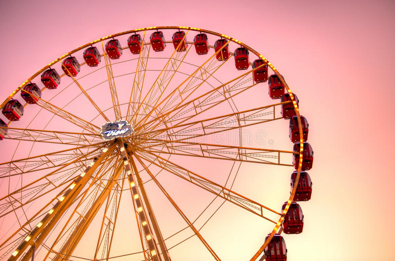 Carousel at sunset royalty free stock images