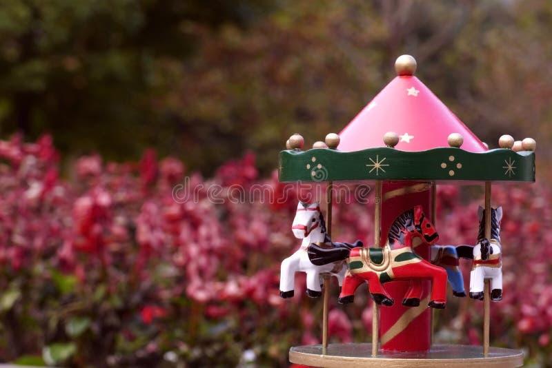 Carousel w park fotografia stock