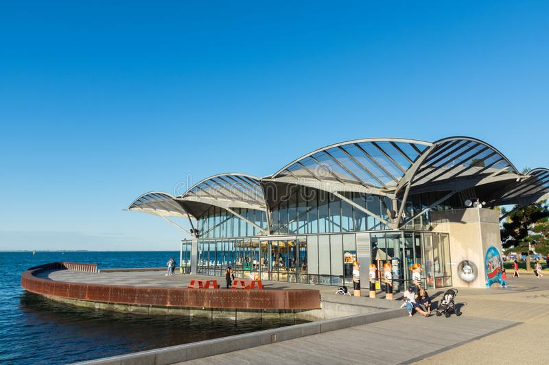 The Carousel on the waterfront of Geelong in Australia. Geelong, Australia - October 13, 2018: The Carousel on the Geelong waterfront was constructed in 1892 stock photo