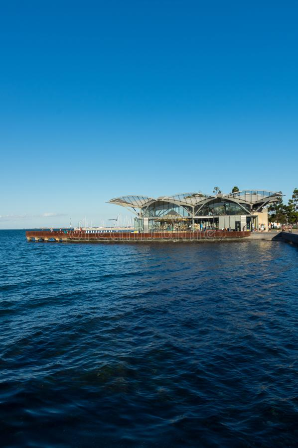 The Carousel on the waterfront of Geelong in Australia. Geelong, Australia - October 13, 2018: The Carousel on the Geelong waterfront was constructed in 1892 stock photography