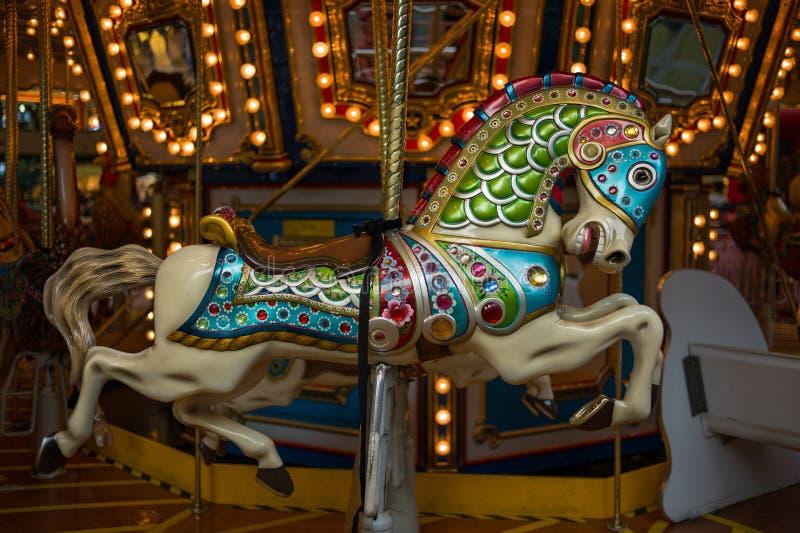 Carousel Wesoło iść Round fotografia royalty free