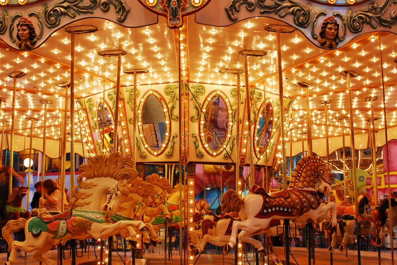 Carousel In West Edmonton Mall Royalty Free Stock Photography