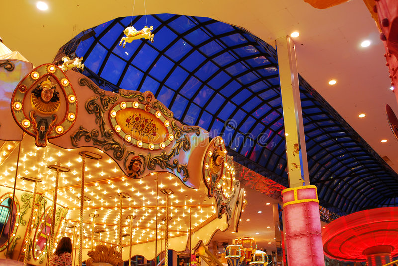 Carousel in west edmonton mall stock image