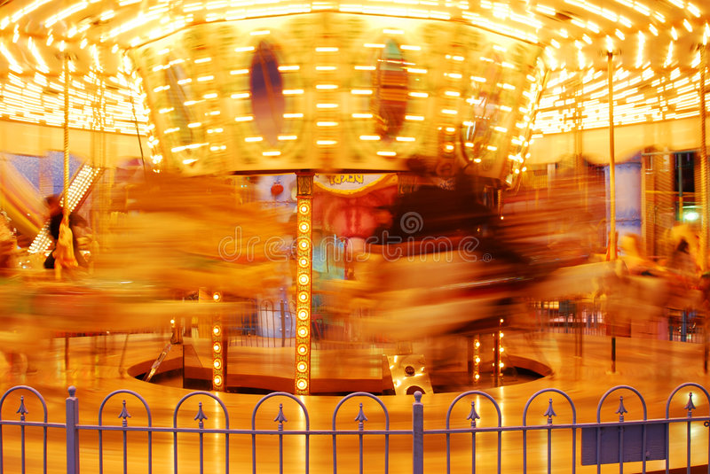 Carousel in west edmonton mall stock photo