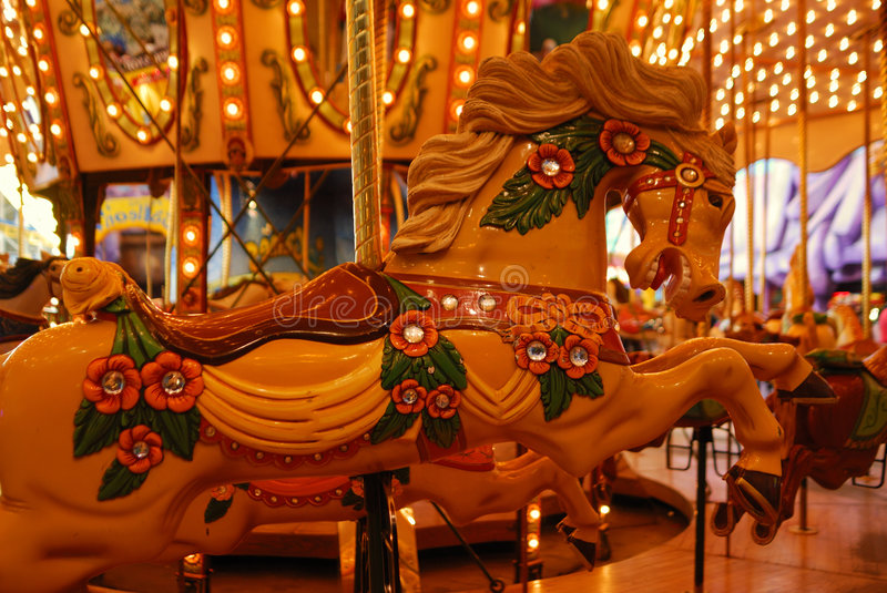 Carousel in west edmonton mall royalty free stock photo