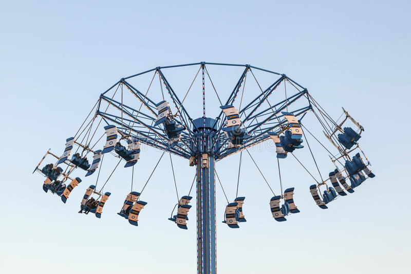 Carousel wierza przy Kemah Boardwalk, Teksas fotografia royalty free