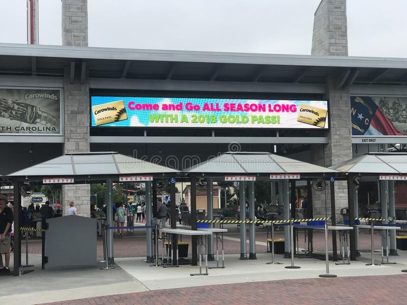 Carowinds park rozrywki w Charlotte, Pólnocna Karolina obraz royalty free