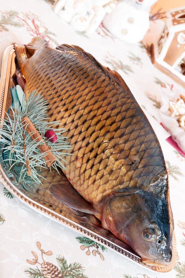 Carp And Christmas Stock Photography