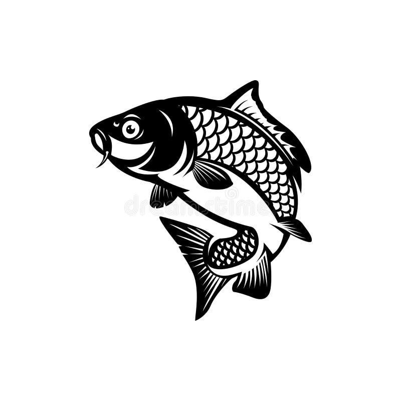 Free Carp Fishing, Fish Logo Royalty Free Stock Photos - 188858288