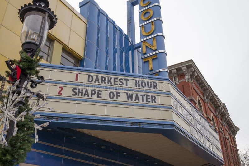 Carpa del teatro del condado en Doylestown imagen de archivo