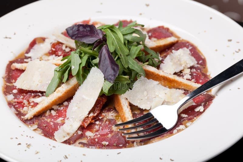 carpaccio βόειου κρέατος στοκ εικόνα με δικαίωμα ελεύθερης χρήσης