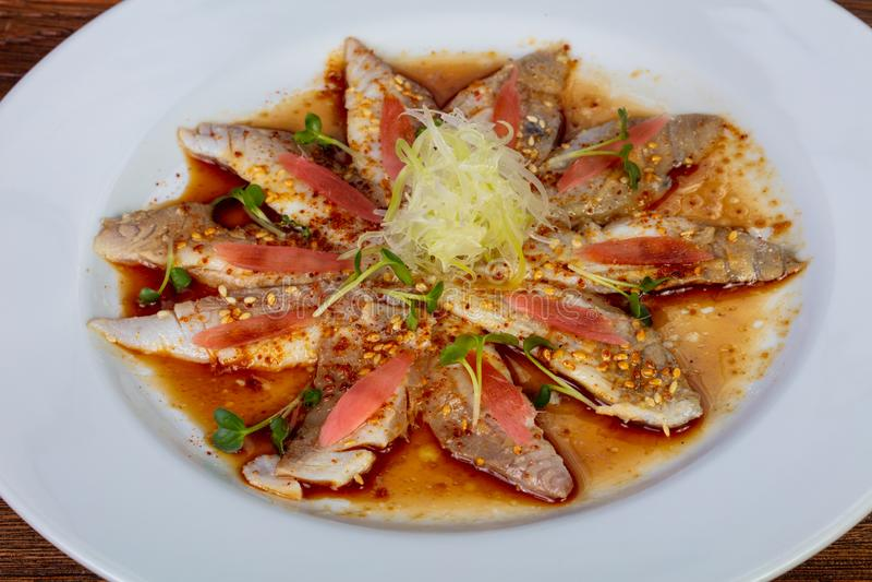 Carpaccio с рыбами dorada стоковое фото rf