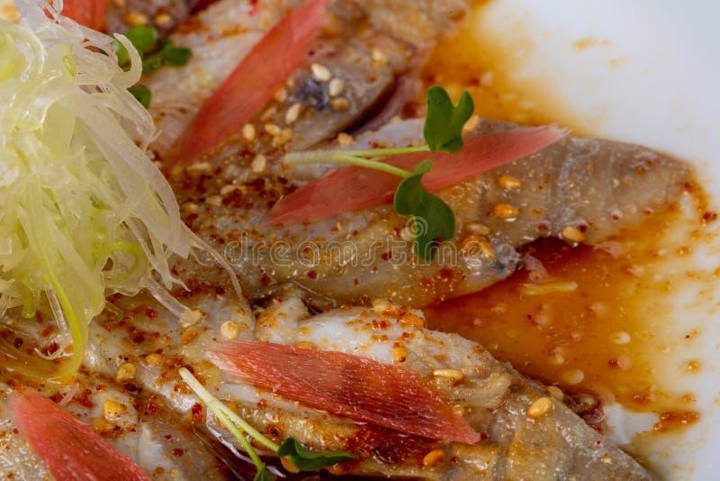 Carpaccio с рыбами dorada стоковые изображения
