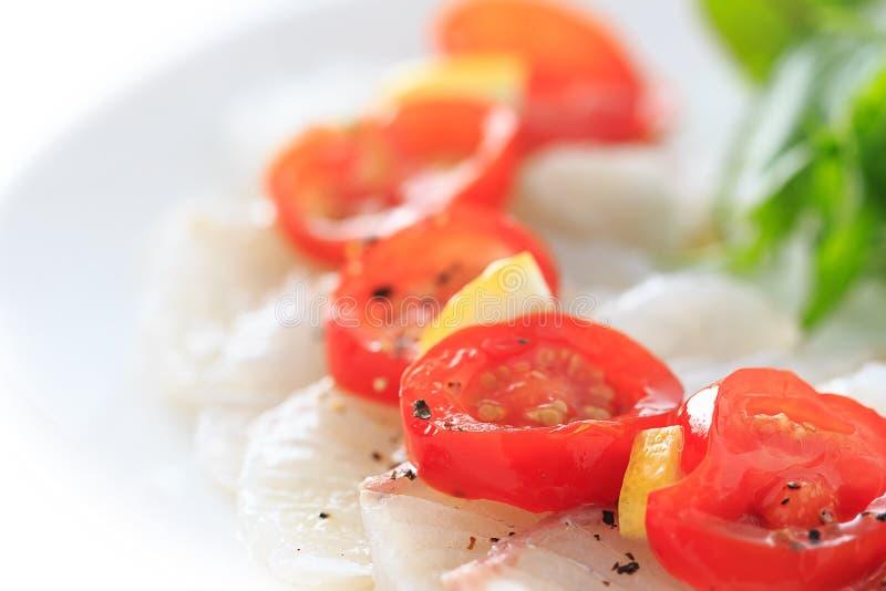Carpaccio biała ryba zdjęcie stock