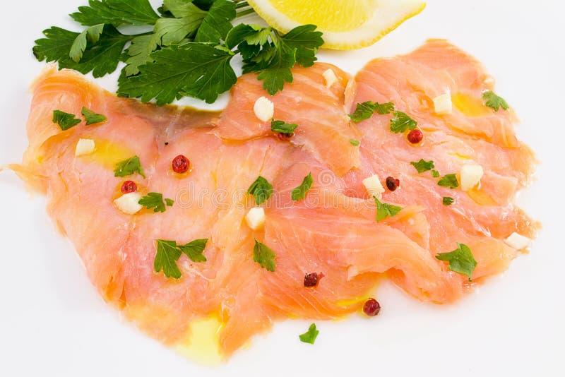 Carpaccio de salmones imágenes de archivo libres de regalías