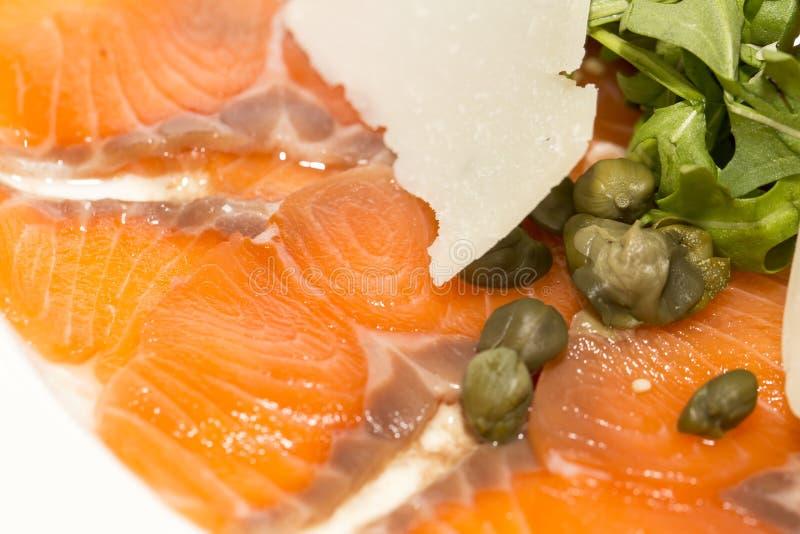 Carpaccio del salmone fotografia stock libera da diritti