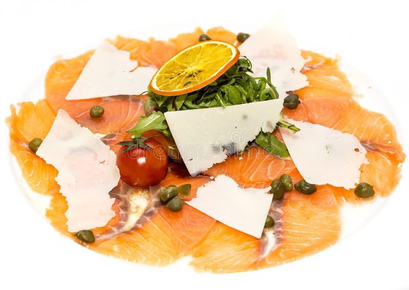 Carpaccio del salmone immagini stock
