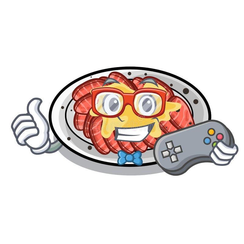 Carpaccio do Gamer isolado com na mascote ilustração royalty free