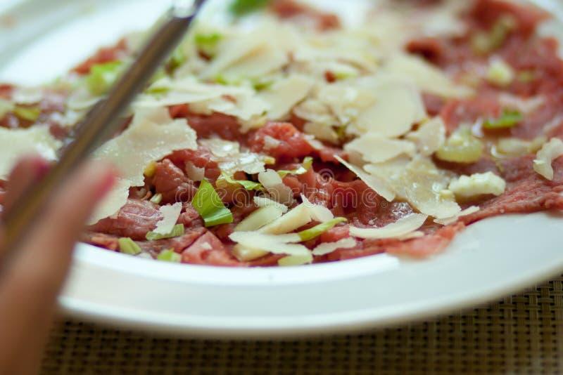 carpaccio jedzenia talerz zdjęcia royalty free