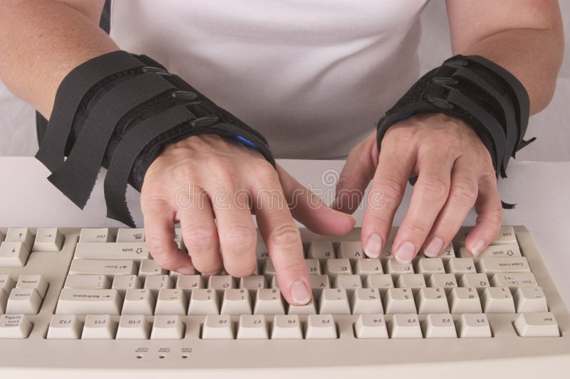 Download Carpal Tunnel stock image. Image of brace, hands, typing - 392225