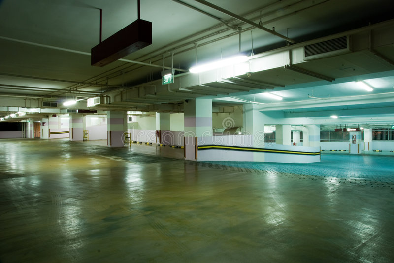 Carpark Interior Royalty Free Stock Images
