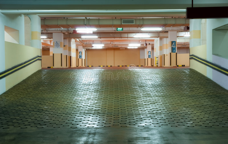 Download Carpark Interior stock photo. Image of modern, color, construction - 8861744