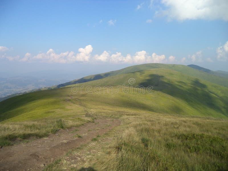 Carpathian berg Borzhava royaltyfria bilder
