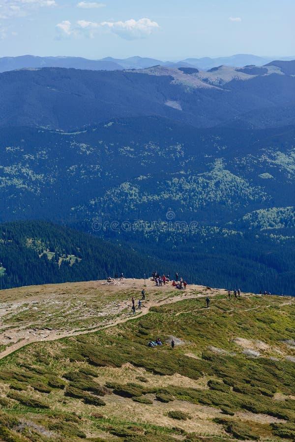 carpathian berg på solig dag royaltyfria foton