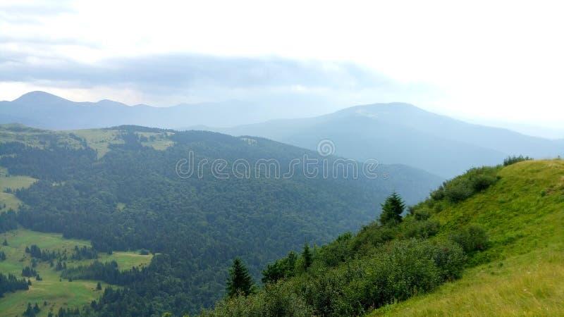 Carpathian Chornohora arkivbilder